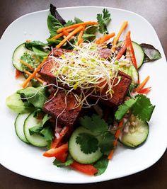 Tofu Teriyaki Salad with Orange Vinaigrette #glutenfreevegan