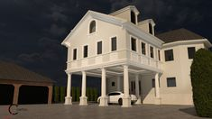 Simulare 3D fatada casa cu profile din polistiren CoArtCo Mansions, House Styles, Home Decor, Decoration Home, Manor Houses, Room Decor, Villas, Mansion, Home Interior Design