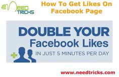 After you create a Facebook page add all description and provide same username. Username of page is computer address that return when Facebook.com/needtricks attempt to offer same name to page and username. It facilitate programme to find individuals to your facebook page. In this article we are going to tell you How To Get Likes On Facebook Page.   Description matters as a result it tells your fans concerning the post you may build in future. Write all description and every one need…