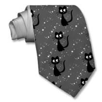 Kitty Kuro Grey ties by thedustyphoenix