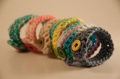 Crocheted buttoned Bracelets by CreatingWorks on Etsy, $5.00