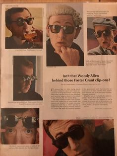 157bf50bb82 1967 Woody Allen in Foster Grant Sunglasses Life Magazine print ad