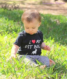 """I """"heart"""" MY PIT BULL - onesies from Pit Bull Gear"""