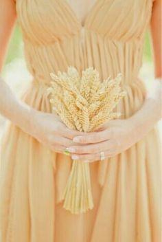 Bridesmaid's Petite Bouquet Of: Golden Wheat