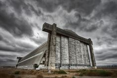 The Old Blimp Hangar by Dave Toussaint...