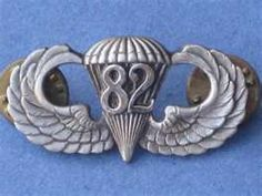 82nd Airborne Div Jump Wing Badge US Army Pin Parachute