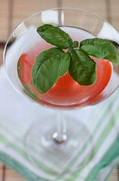 Strawberry-Basil Bellini