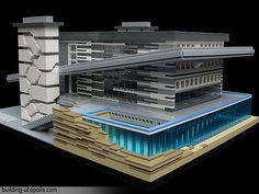 The Mid-21st Century California House by buildingxyz