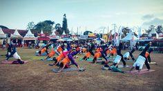 day 3rd #Sanfest2015 #SanurVillageFestival2015 w/ yoga activities