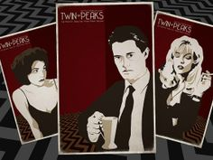 Twin Peaks - Set of 3 Movie Posters - Laura Palmer, Audrey Horne, Dale Cooper