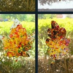 Stained Glass Leaves: Having Fun at Home