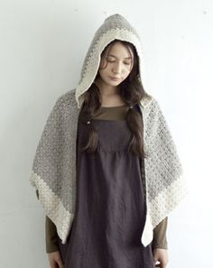 crochet shawl with hood