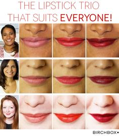 These lipsticks suit EVERY skin tone - inc. those not pictured! We know, we've tested them.