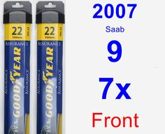 Front Wiper Blade Pack for 2007 Saab 9-7x - Assurance