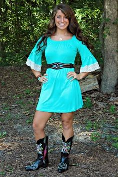 Jenny Lynn Tunic Dress in Mint $36.99 #SouthernFriedChics