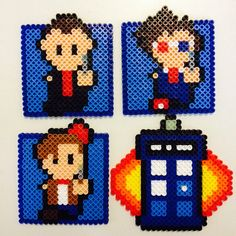 Doctor who coasters ---Etsy listing at https://www.etsy.com/listing/154012410/doctor-who-and-the-tardis-coaster-set
