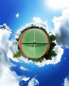 Tennis court #tinyplanet #littleplanet #tennis #tenniscourt #tennislife #switzerland #geneva #360photo #360camera #360panorama #rollworld #theta360 #ricohtheta #ricohtheta360 #vr #virtualreality #empty #spring #sun #sunnyday #sunny #instapic #instacool by crossovr360
