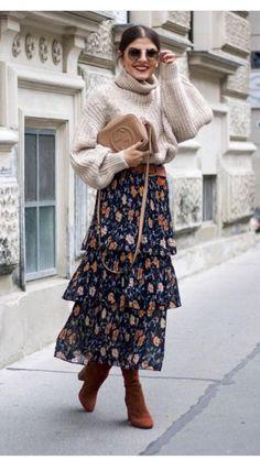 long layering skirt