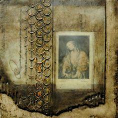 Encaustic Collage on panel - Italian Vestiges Series www.nancycrawfordartist.com