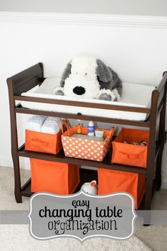 I Love You More Than Carrots: Changing Table Organization & Must-Haves!