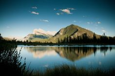 The Vermilion Lakes are a series of lakes located immediately west of Banff, Alberta, in the Canadian Rocky Mountains. The three lakes are formed in the Bow River valley, in the Banff National Park, at the foot of Mount Norquay. They are located between the Trans-Canada Highway and the Canadian Pacific Railway tracks. A hot spring is found at the third lake.