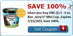 FREE Ben & Jerry's Mini Cup | Closet of Free Samples | Get FREE Samples by Mail | Free Stuff
