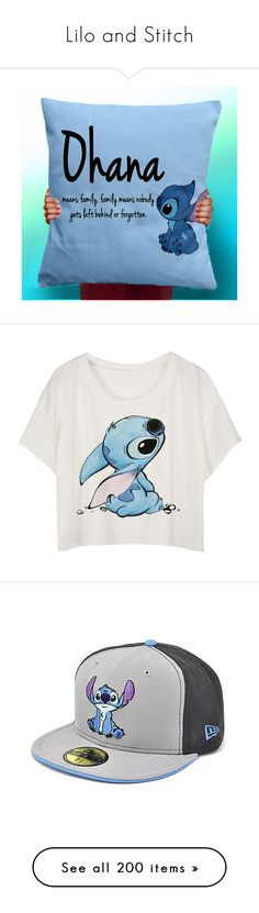 """Lilo and Stitch"" by dani-loves-wwe-music ❤ liked on Polyvore featuring home, home decor, decorative pillows, home & living, home décor, light purple, handmade home decor, tops, t-shirts and shirts"