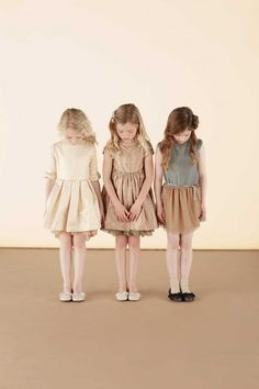 Soft hues for silk and chiffon party dresses by Marie Chantal for girlswear winter 2014