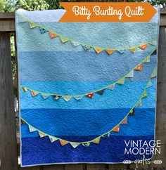 Bitty Bunting Quilt by Lisa Calle