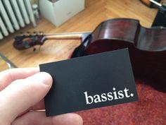 Musician business card. Bassist.