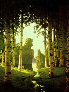 A Birch Grove by Arkhip Kuindzhi - Russia 1901