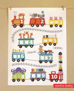 I love this: Choo Choo Train Poster by alohababydesign on Etsy, $25.00