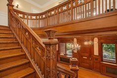 1904 Victorian staircase, wood window casing / molding