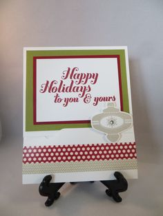 Envelope Punch Board, Christmas Collectibles, xxx (sentiment), xxx Washi Tape, Ornament punch, Rhinestone - Gift Card Holder (closed)