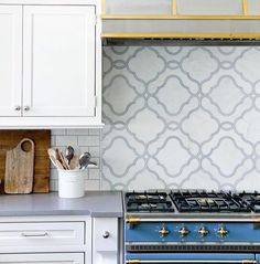 When your beautiful range matches your equally beautiful marble backsplash you know you have created serious kitchen goals Repost: Photo: Kitchen Countertops, Kitchen Cabinets, Colour Board, Color, Marble Mosaic, Sacks, Backsplash, Tile Floor, Kitchens