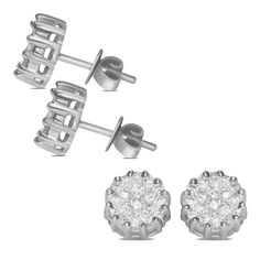 Ebay NissoniJewelry presents - 1CT Diamond Round Composite Fashion Earrings 14k W/Gold    Model Number:EV2065K-W477    http://www.ebay.com/itm/1CT-Diamond-Round-Composite-Fashion-Earrings-14k-W-Gold-/322048728782