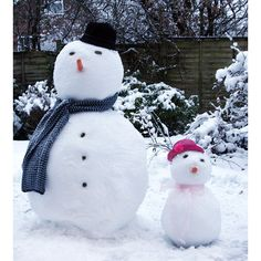 Snow Man and Snow Girl
