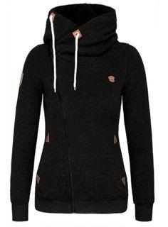 Classic Hoodie Zip-up in Black