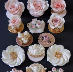 Stunning idea for cupcakes topped