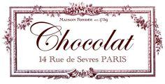 The Graphics Fairy - DIY: Transfer Printable - Chocolat Paris
