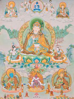 Padmasambhava. Karma Gadri style.