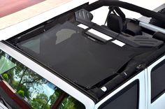 2007-2016 Jeep Wrangler SpiderWebShade JKini Top in Black
