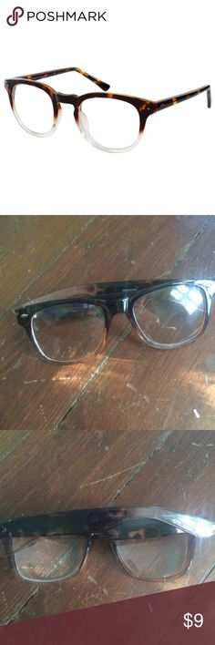 Clear lens tortoiseshell glasses Clear lens fashion glasses from H&M. cute to wear with any glasses. Looks cute with scarves :) H&M Accessories Glasses
