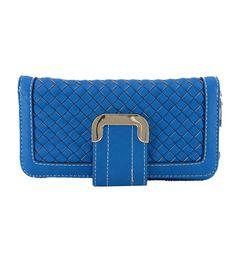 Carteira feminina, azul. Detalhe trançado. #carteirafeminina #carteira #carteiraazul #fivela #lojadibella #azul #carteirascoloridas www.lojadibella.com.br