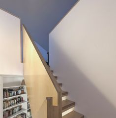 Living spaces are arranged on the upper level with a basement space given over to an entrance court, boat room and spare bedroom with upper levels accessed via a feature birch ply staircase.