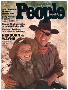 "Dynamic Duo John Wayne and Katharine Hepburn Team Up Onscreen to Satisfy Hepburn's 18-Year Desire to ""Star in a Western with Wayne"""