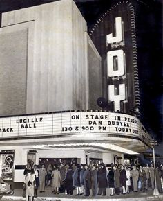 The Joy Theater on opening night, February 8, 1947.  See my photos inside the abandoned theater here.  It was since been restored!  http://jamesmshaw.blogspot.com/2011/08/joy-theatre.html