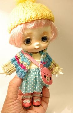 Tutu Pink Wig, Bjd, Tutu, Wigs, Crochet Hats, Teddy Bear, Dolls, Handmade, Animals