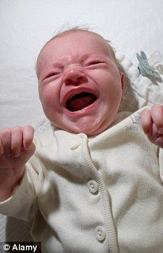 Don't be fooled: Babies continue to be unhappy for hours after crying as the levels of stress hormone cortisol remain high, but just keep quiet about it, a study has found (file picture)