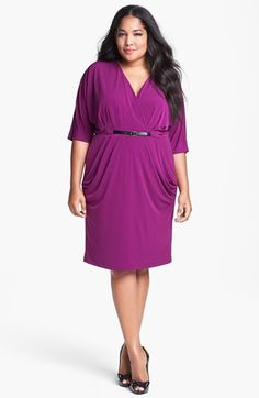 $65 Ivy & Blu Draped Dress (Plus Size) available at #Nordstrom